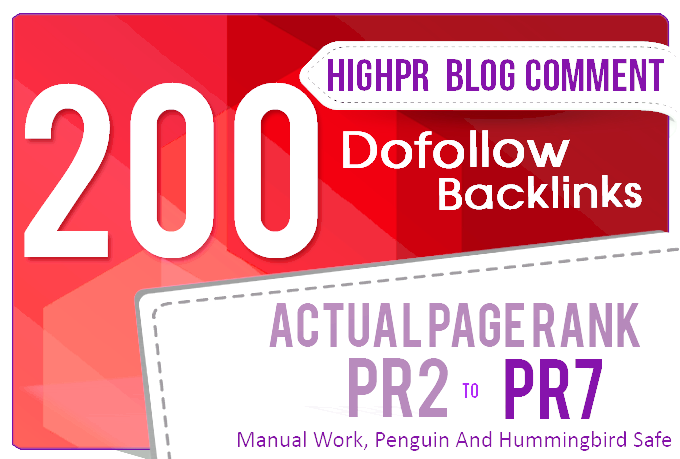 Do Manually 200 Blog Comments Backlinks High Quality