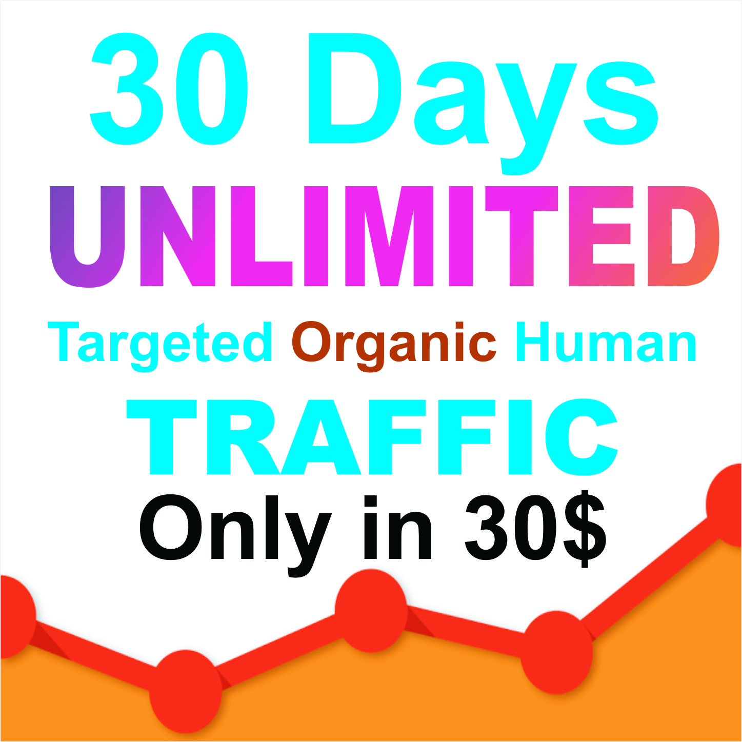 50 days UNLIMITED Keywords Targeted REAL HUMAN TRAFFIC