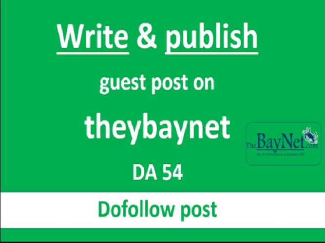Write and post an article on thebaynet with dofollow links