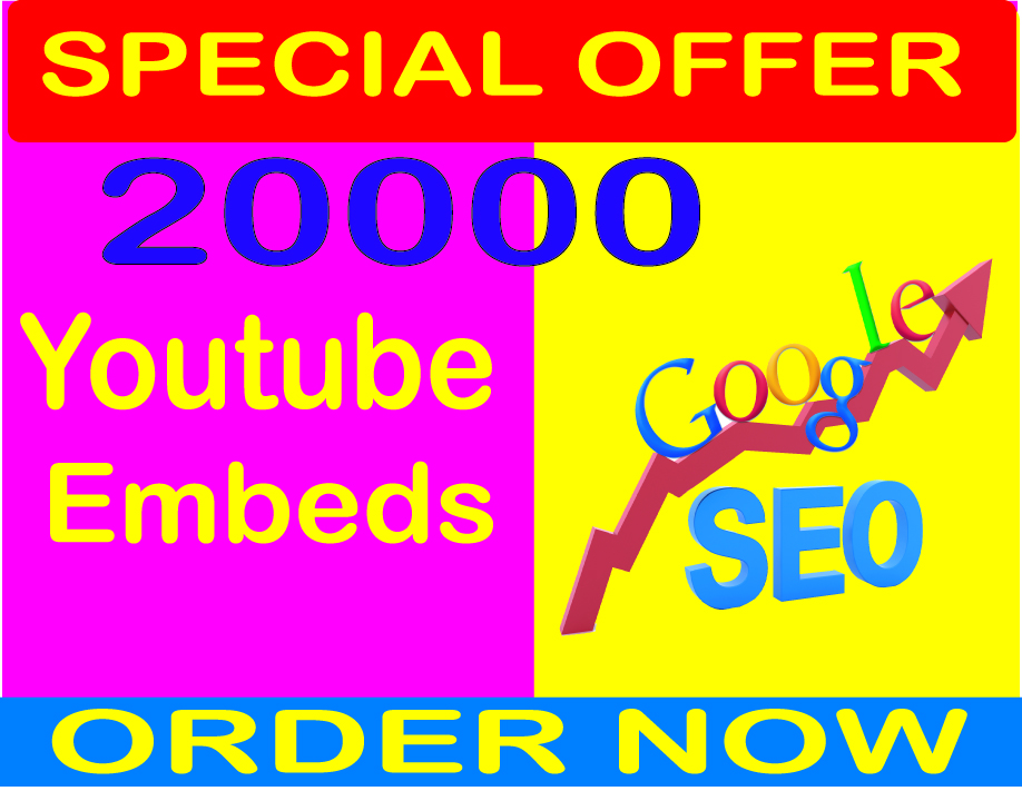 200,000 YouTube Backlinks and Embeds,  Organic Video