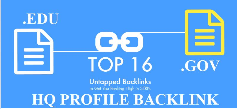 Get high Quality 16 EDU/GOV Profile Backlink from all Unique domains