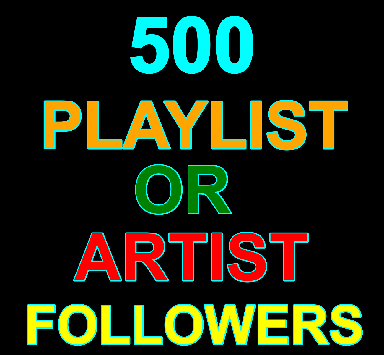 12-24 Hours Order Delivery 500 Real Accounts Music Playlist Or Artist Profile Followers Non Drop Life Time Guaranteed