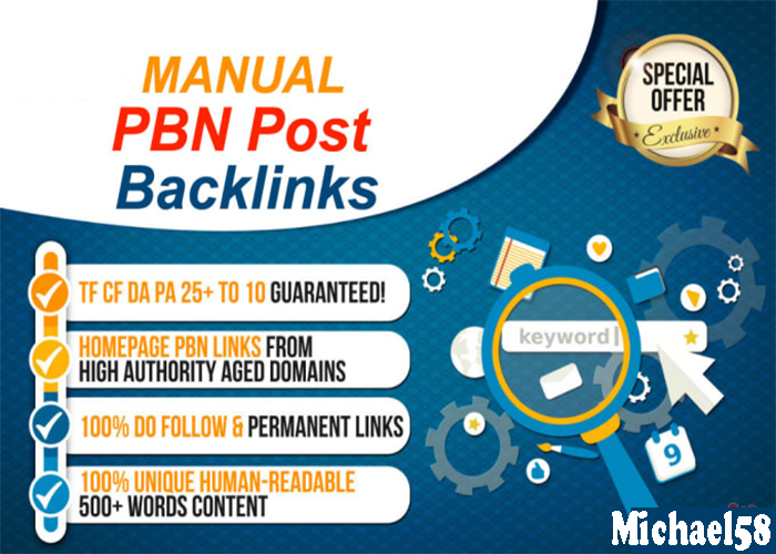 MANUAL 25 PBN Post Backlinks Increase Your Website