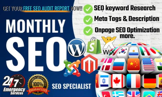 Professional YOAST SEO your wordpress website optimization meta tags,description,images and alt tags