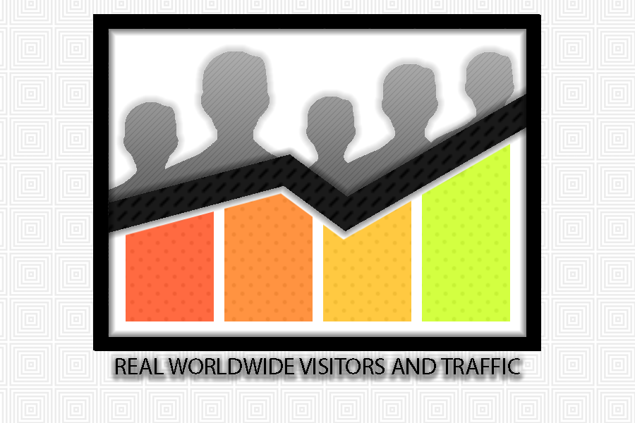 30 000+ Worldwide,  real,  high quality traffic for websites and social media