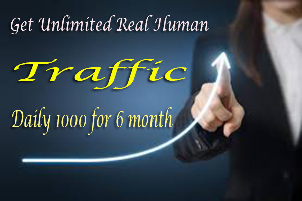 Send Unlimited And Genuine Traffic for 6 month