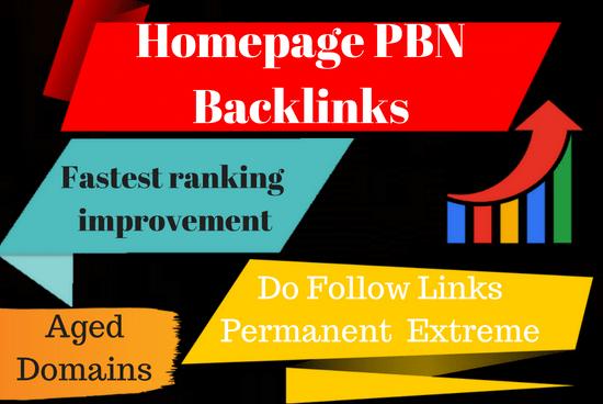 Create 10 High Pa Da Tf Cf Homepage Pbn Backlinks
