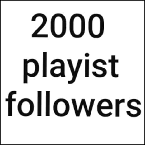 2000 playlist music artist followers