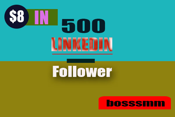 Manually 500+ HQ & None Drop Linkedin Followers