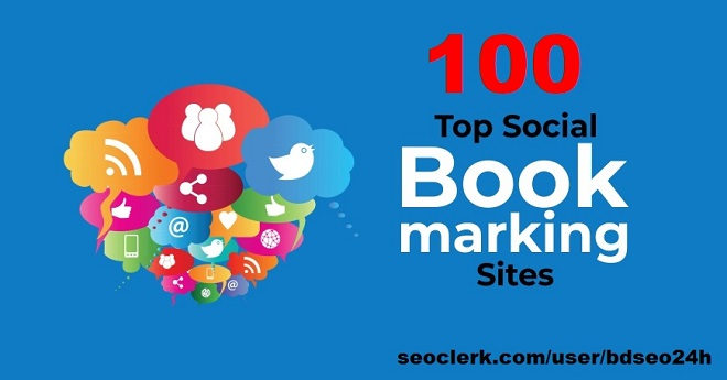 100 top social bookmarking High Authority Backlinks for better ranking for your websites.