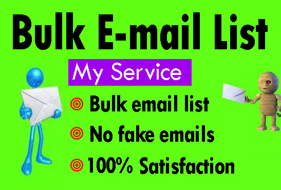 Provide You 100000 USA and UK Bulk Business Emails