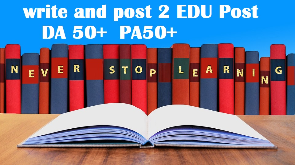 2x write and publish EDU guest posts DA 80+ with Dof0llow links