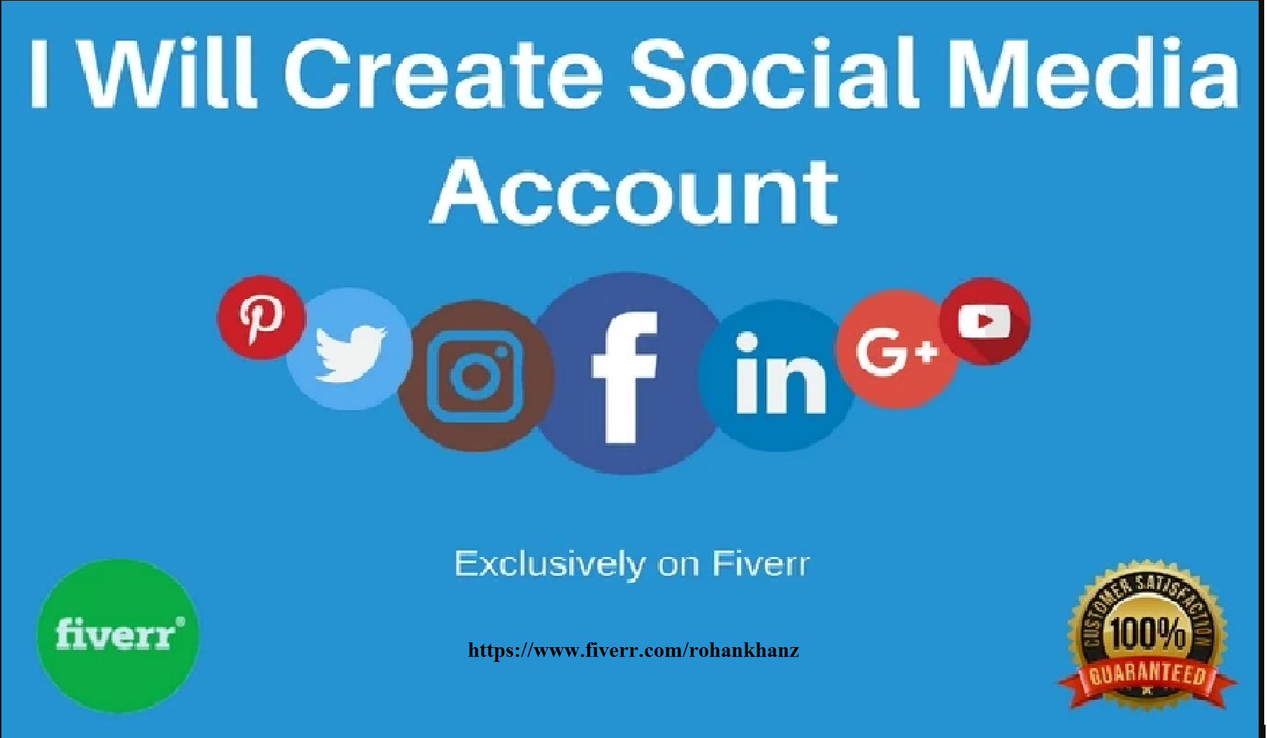 Create Social Account For You