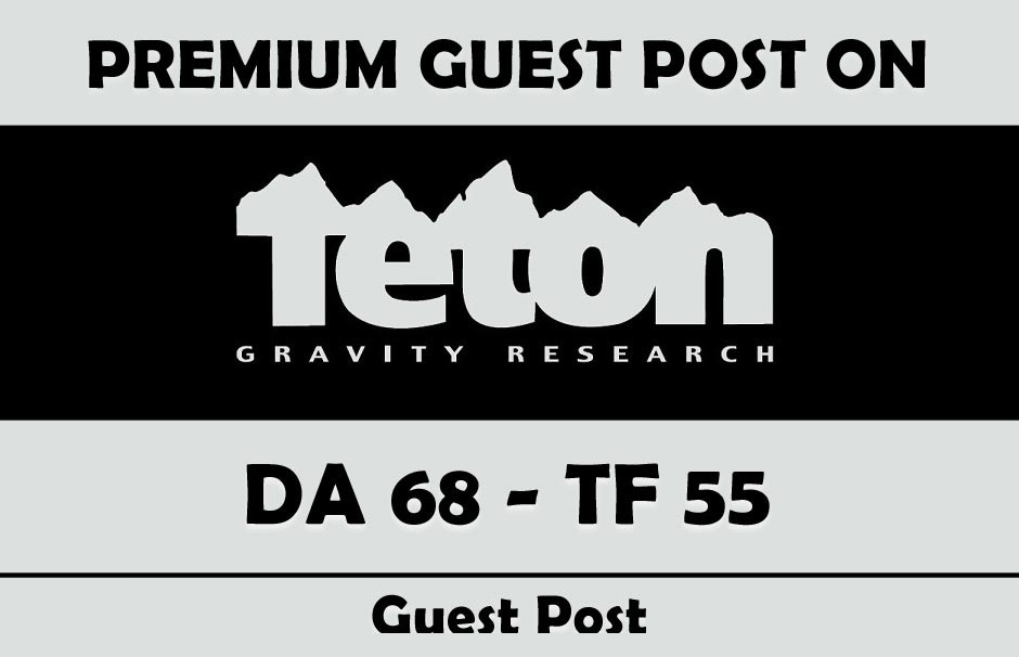 Write & Publish Guest Post on Tetongravity. com