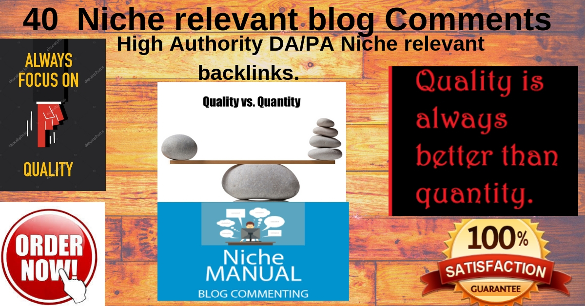 40 High DA/PA Niche relevant blog commenting