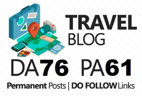 Write a Guest post on travelblog. org DA76 Dofollow b...