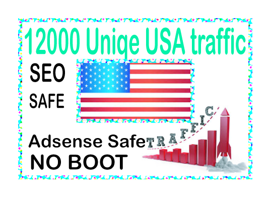 Get traffic 12000 Unique USA traffic from social & main search engines