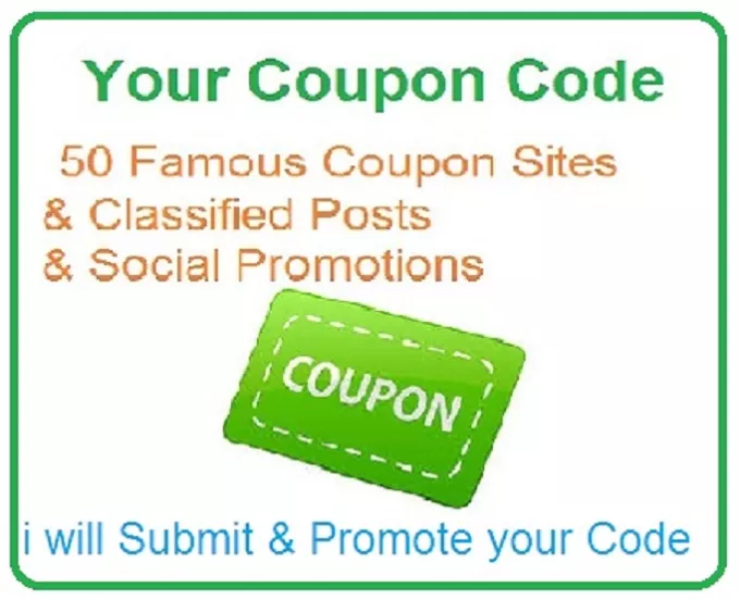 Your Coupon Code Promotion to 100 websites