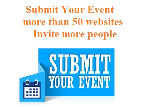 Submit Your Event to 100 website Promotion and Marketing works