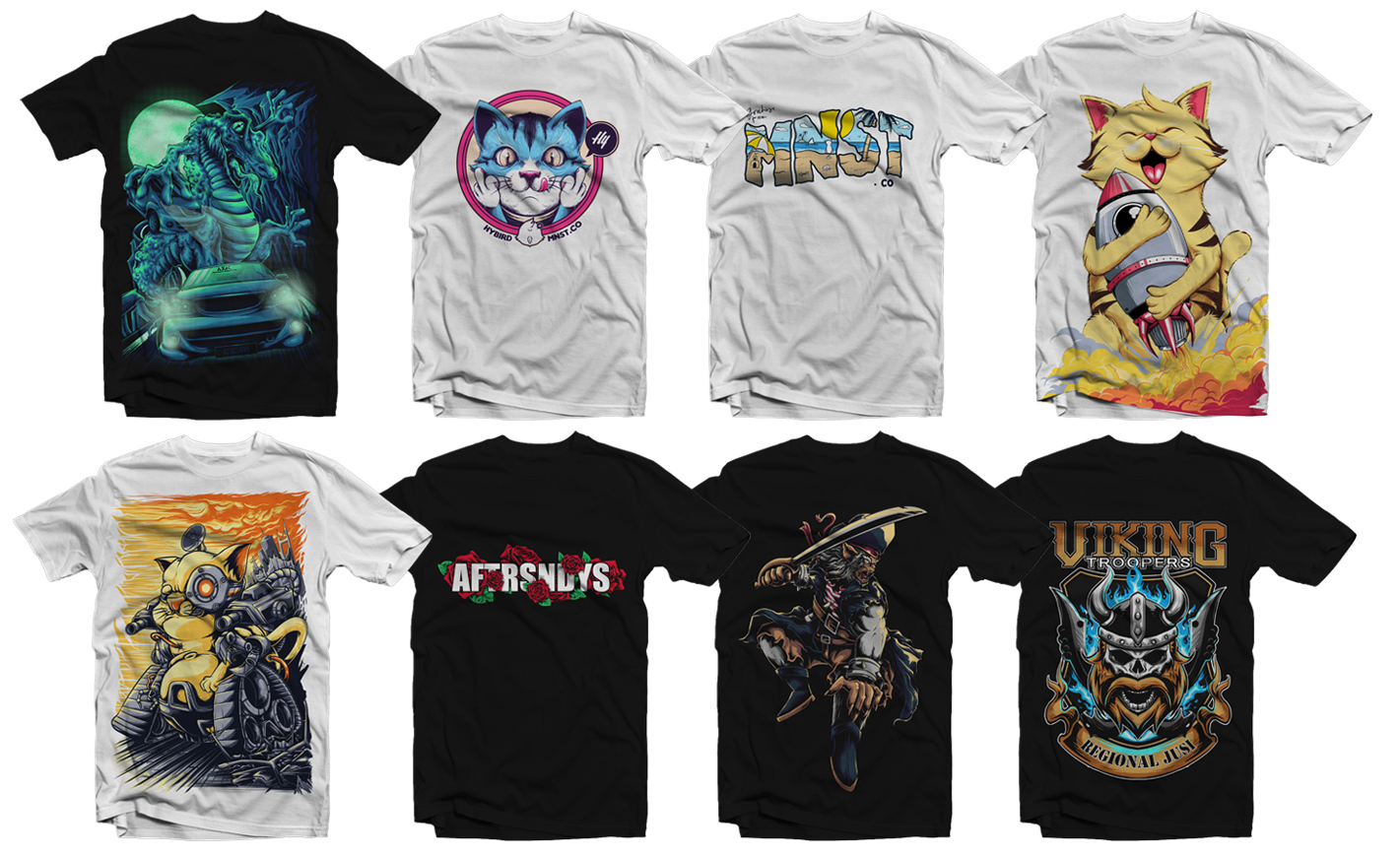 draw an illustration for your t-shirt merchandise