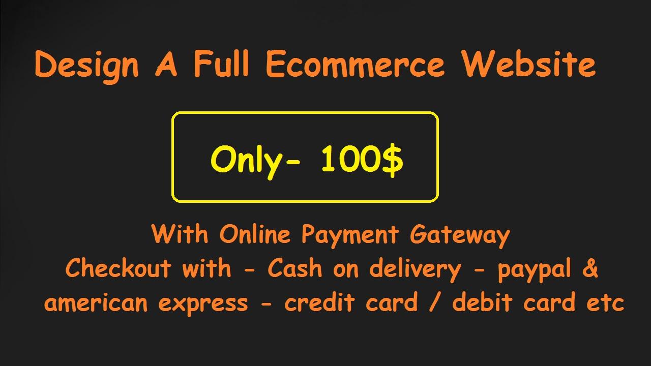 Create A Full Ecommerce Website