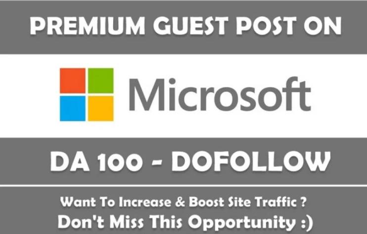 Write Guest post on DA100 website tech niche