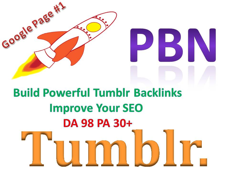 You will Get Powerful 15 Tumblr PBN Backlinks Improve Your SEO