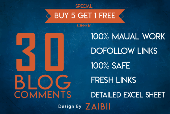 Do 30 DOFOLLOW BLOGCOMMENTS with HIGH DA PA