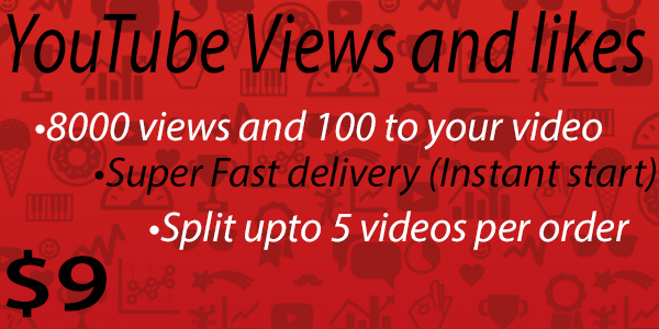 8000 views and 100 likes to your YouTube video [Instant Start]