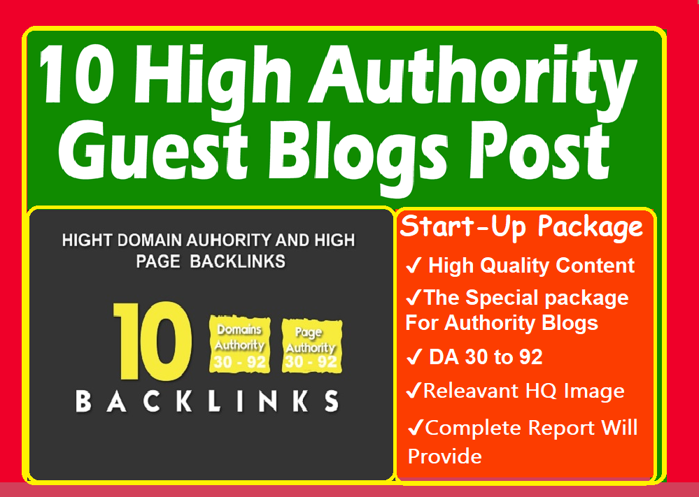 HQ Backlinks From Top 10X Authority Sites