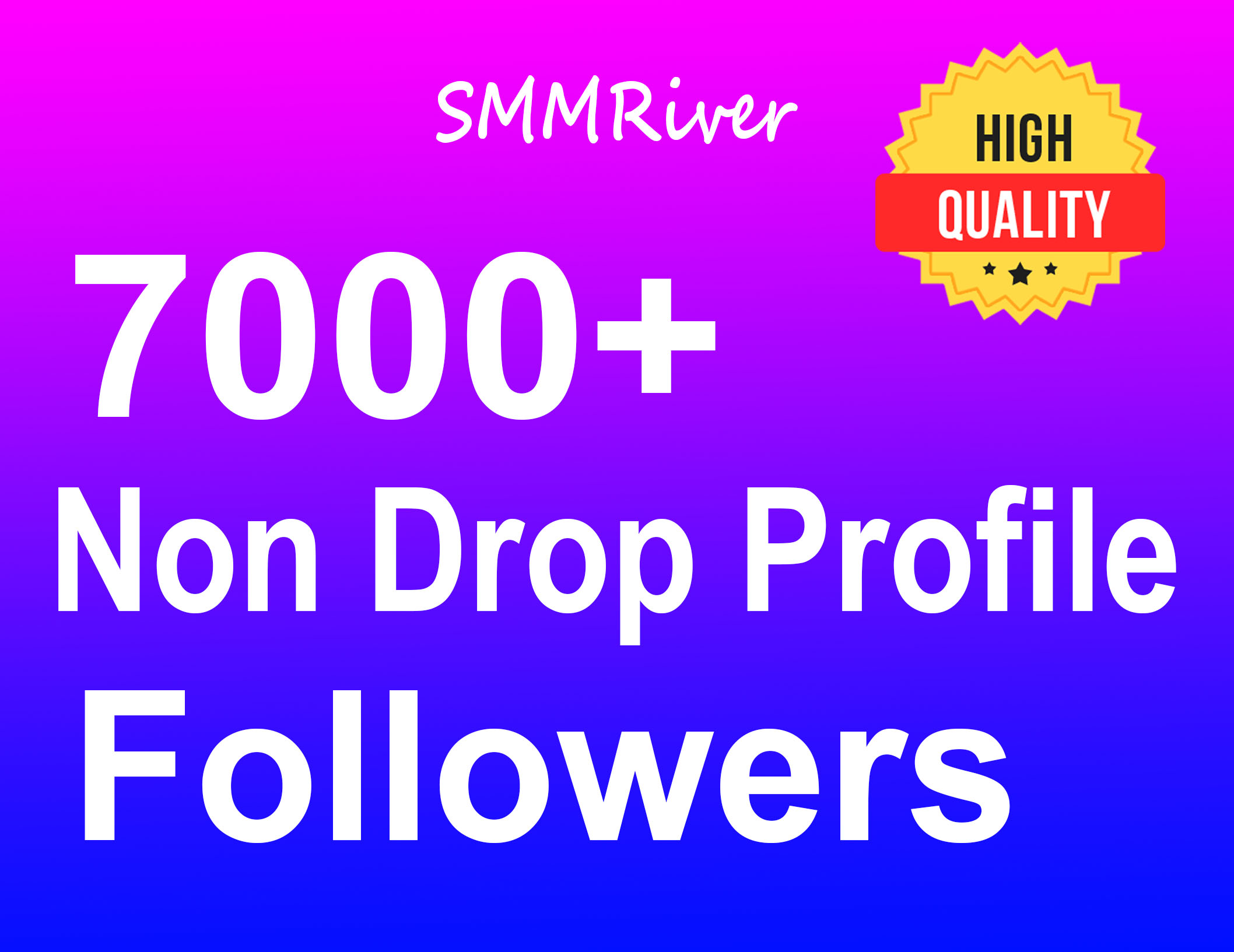 Add 7000+ Profile Followers Real High Quality and Non Drop