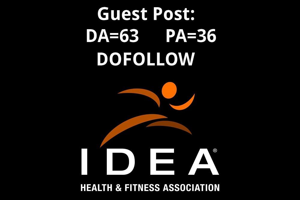 Guest post on Ideafit. com &ndash Fitness Website - Dofollow link