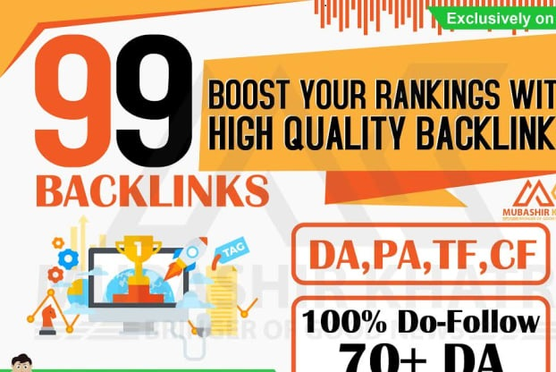 Manually Build 99 UNIQUE DOMAIN Backlinks On DA 100- 40 TF 100- 40 Sites