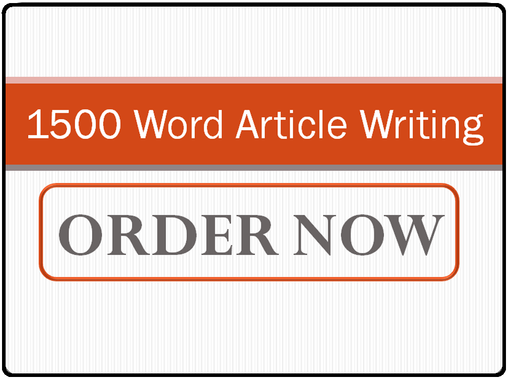 I Can Write 1500 Word Article English