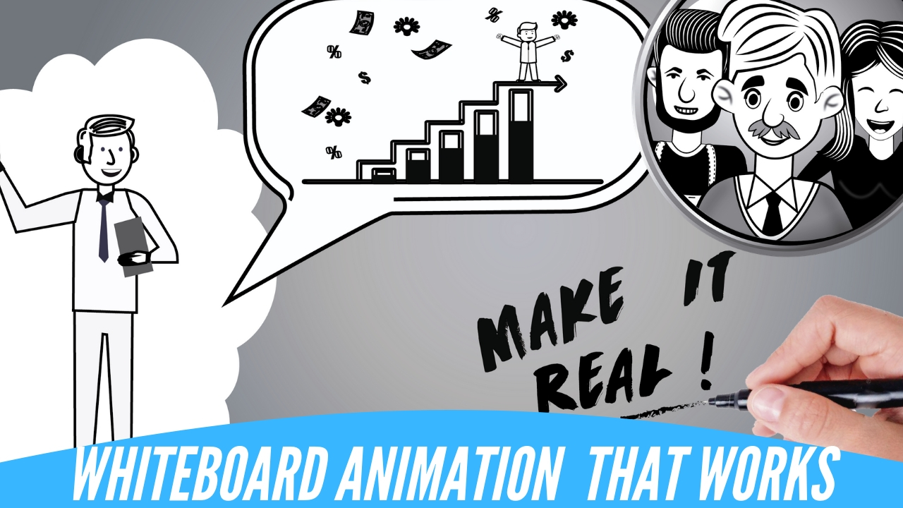 Video Whiteboard Animation Digital Hand Drawn