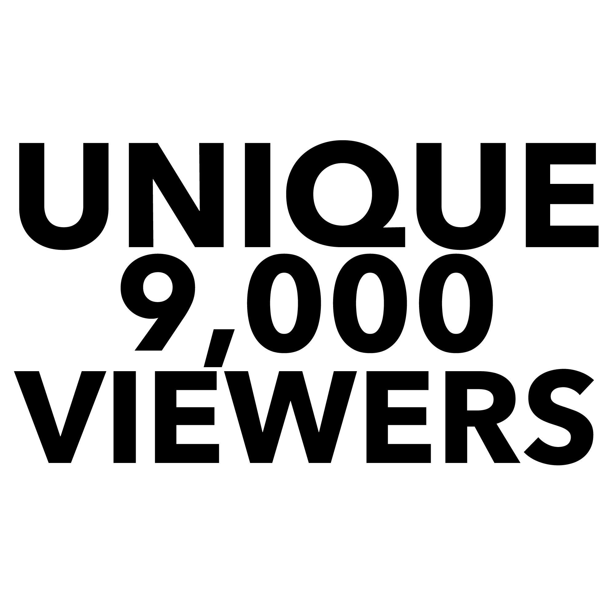 9000 Unique Visitors To Your Website.