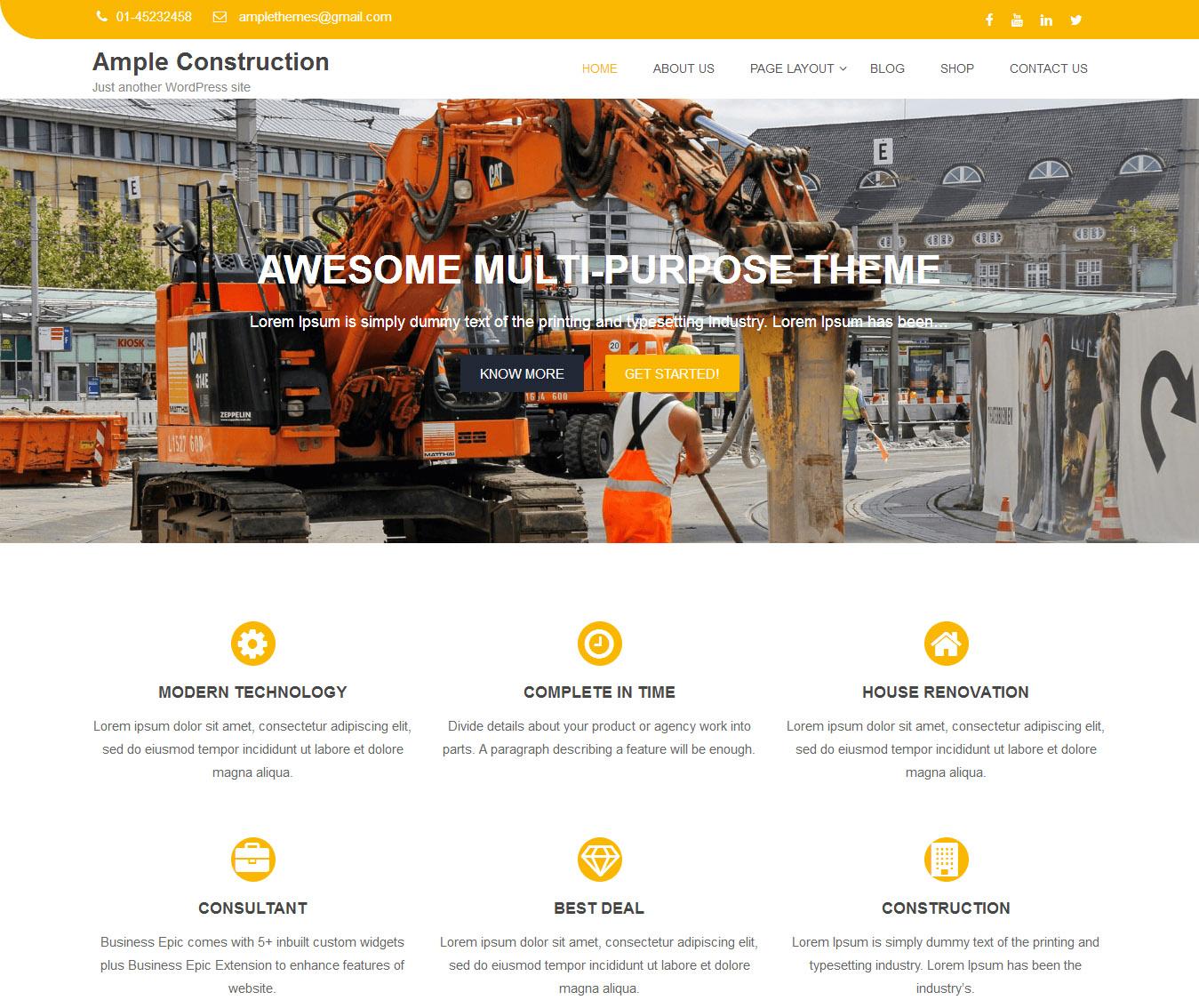 Design Real Estate Construction Website