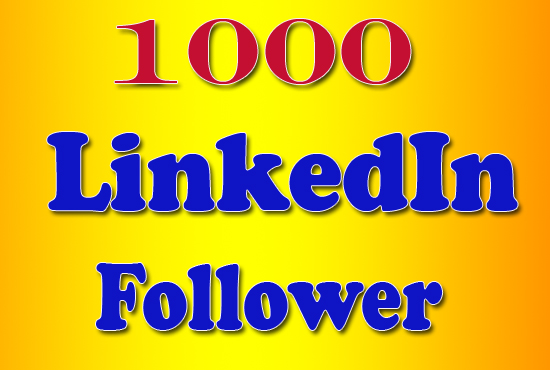 Provide 1000 High-Quality LinkedIn Followers for Company Page or Profile
