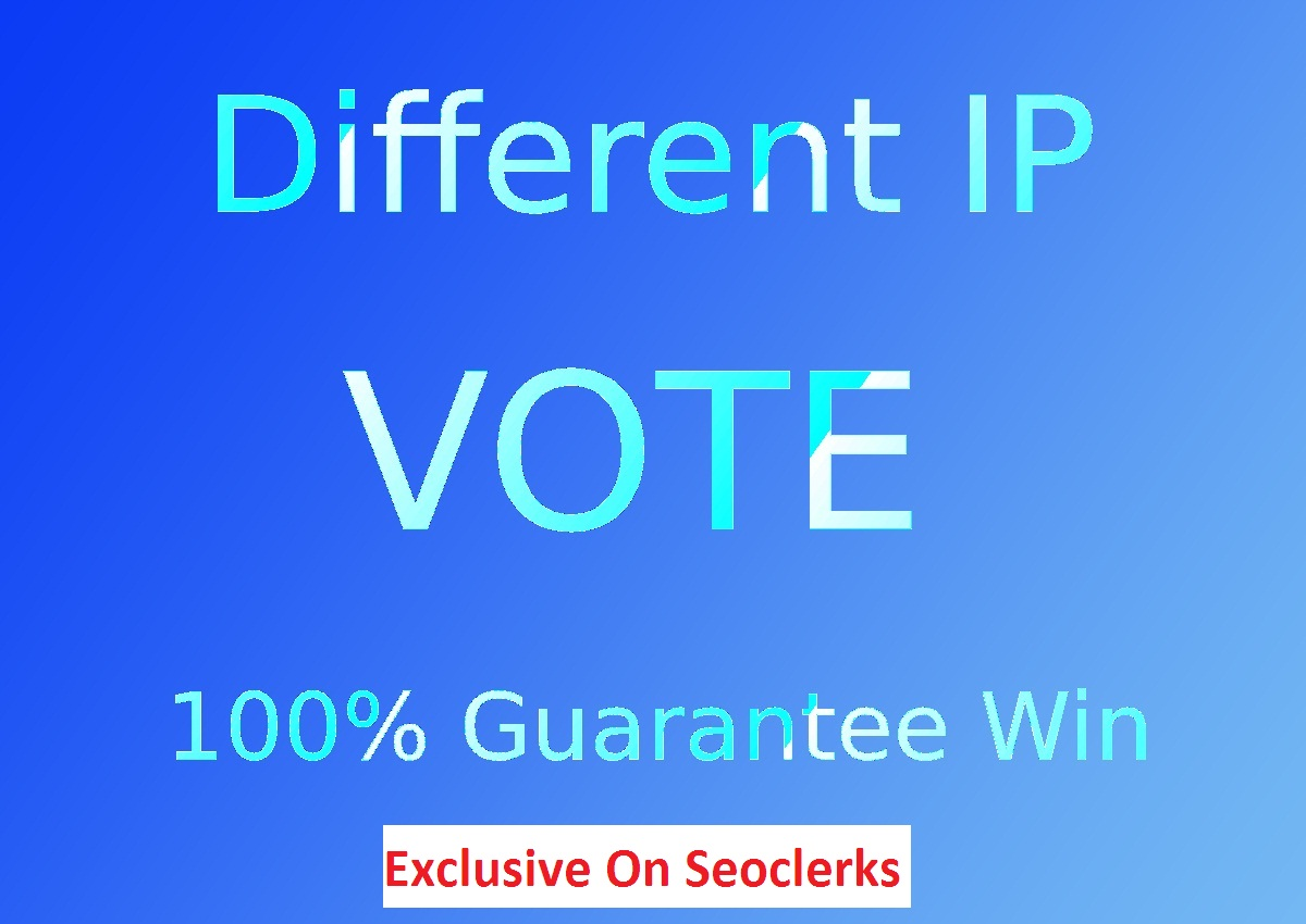 Give 500 legit Different IP votes for your online voting contest