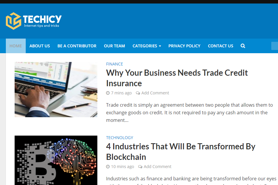 Guest post on Techicy. com Tech website - DA 50