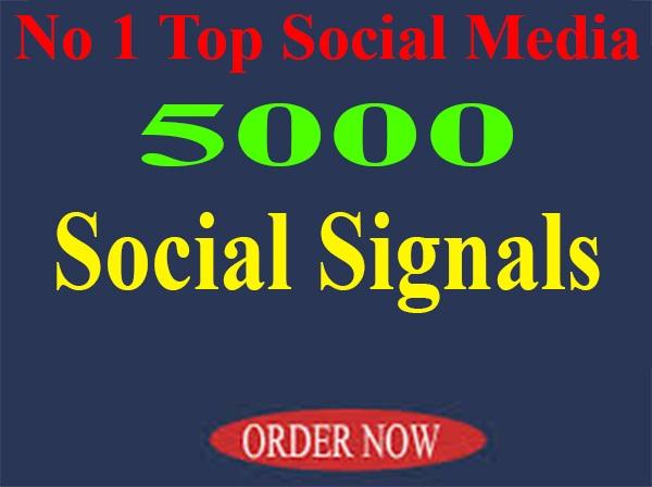 NO1 Top Social Media Platform 5000+ PR10 SEO Social Signals