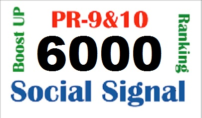 POWER FULL HQ ORGANIC 6000 Social Signals Top Social Media Site