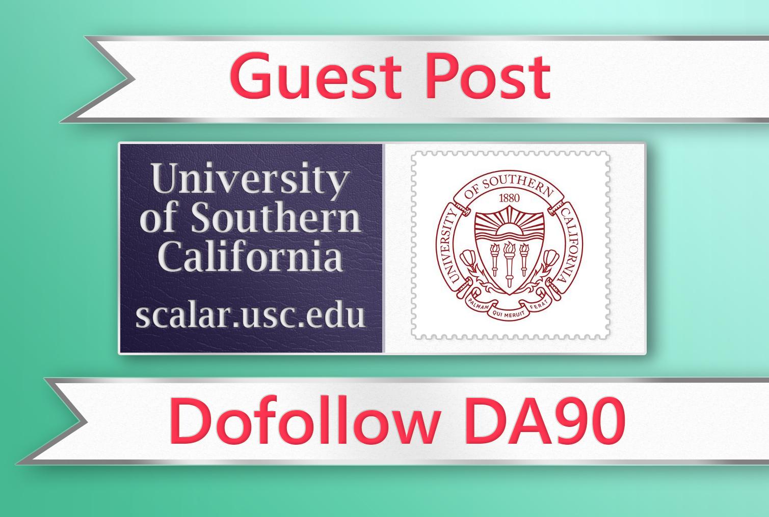 Guest post on USC. edu - DA90