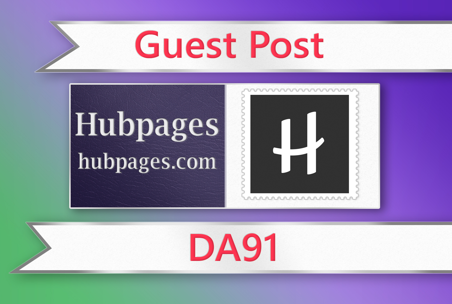 Guest post on Hubpages - DA91
