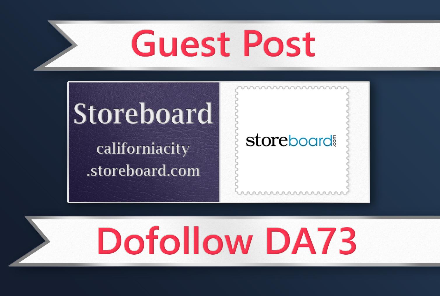 Guest post on Storeboard - DA73