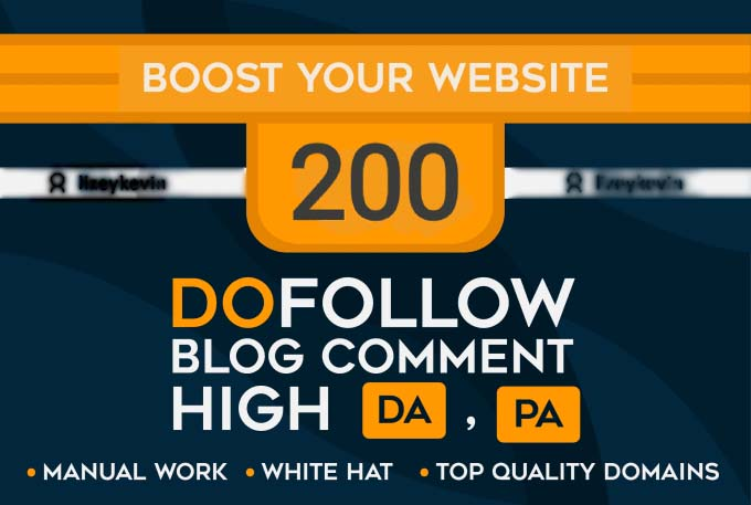 Create 200 Unique Domain Blog Comment Quality Backlinks