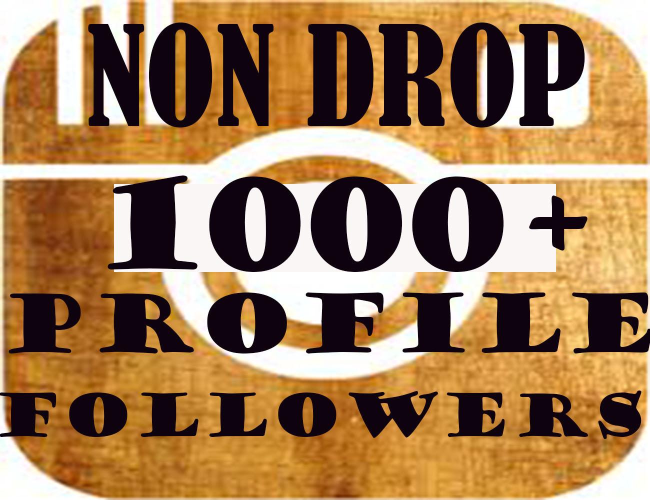 1000+Profile Followers In 1-2H[PERMANENT]