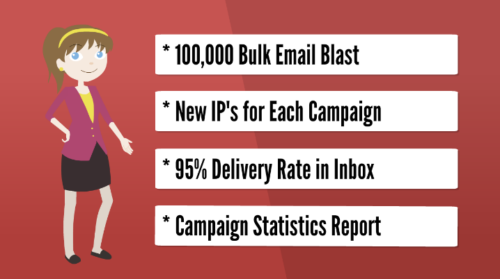 Email Blast - Send 100,000 bulk emails to our list for your email campaign