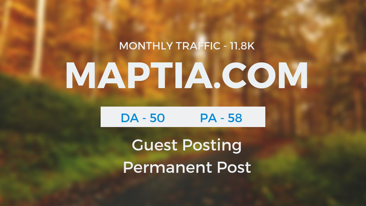 Publish Guestpost on Travel Niche MAPTIA.COM