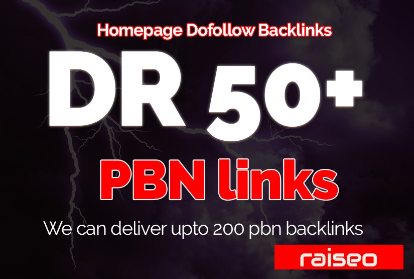 Provide you DR 50+ PBN Homepage High Authority Backlinks